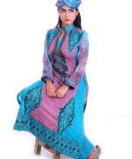 Ghani Textile Cambric Dresses 2014 For Girls 1