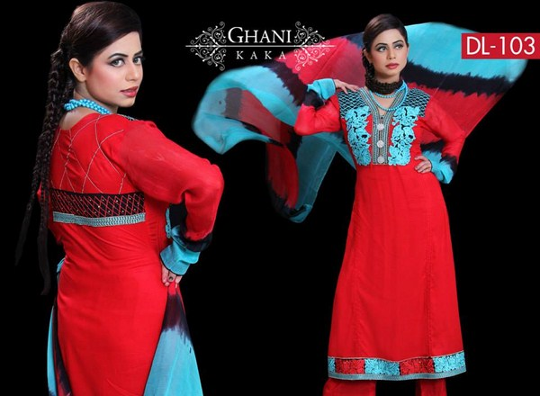 Ghani Textile Party Dresses 2014 For Women 004