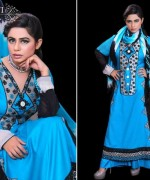 Ghani Textile Party Dresses 2014 For Women 007