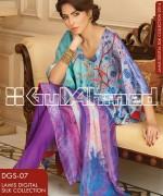 Gul Ahmed Digital Silk Dresses 2014 For Girls 2