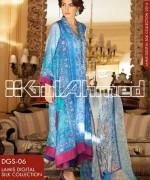 Gul Ahmed Digital Silk Dresses 2014 For Girls 4