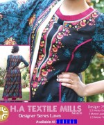 H.A Textile Lawn Dresses 2014 For Women 0013