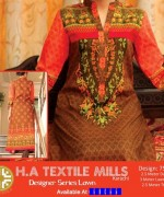 H.A Textile Lawn Dresses 2014 For Women 004