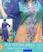 H.A Textile Lawn Dresses 2014 For Women