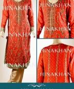 Hina Khan Formal Wear Dresses 2014 for Women001