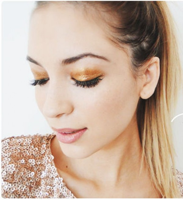 How To Get Gold Sparkle Eyeshadow 4