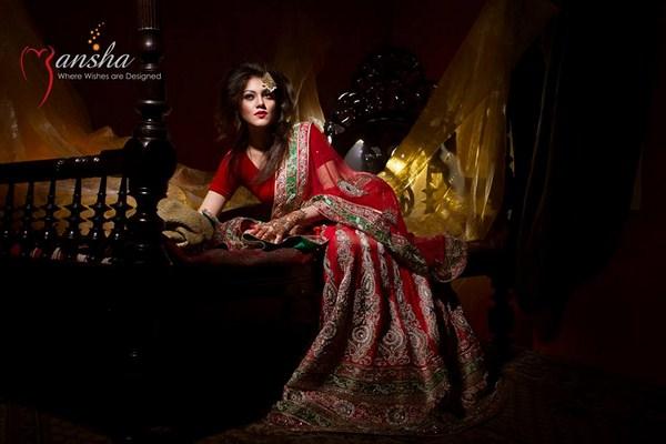 Mansha Wedding Dresses 2014 For Women 003