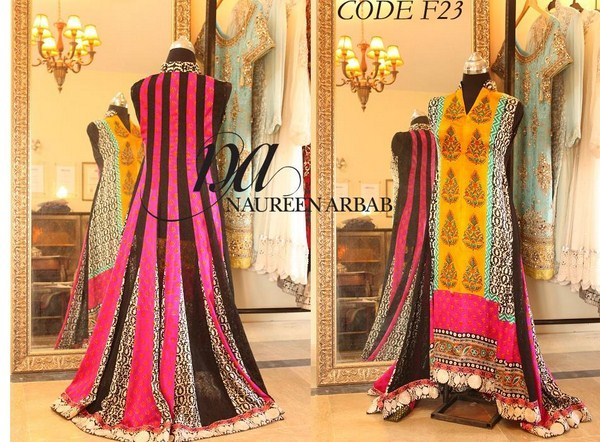 Naureen Arbab Embroidered Dresses 2014 For Women 001