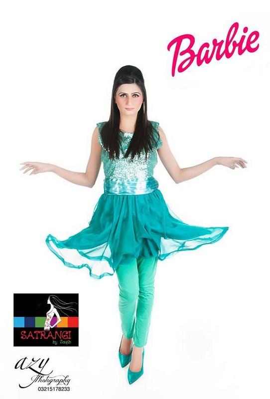 Satrangi By Saqib Western Dresses 2014 For Women 006