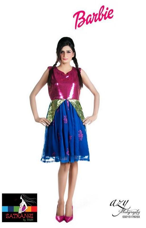 Satrangi By Saqib Western Dresses 2014 For Women