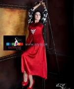 Satrangi by Saqib Girls Dresses 2014 For Valentines Day 4