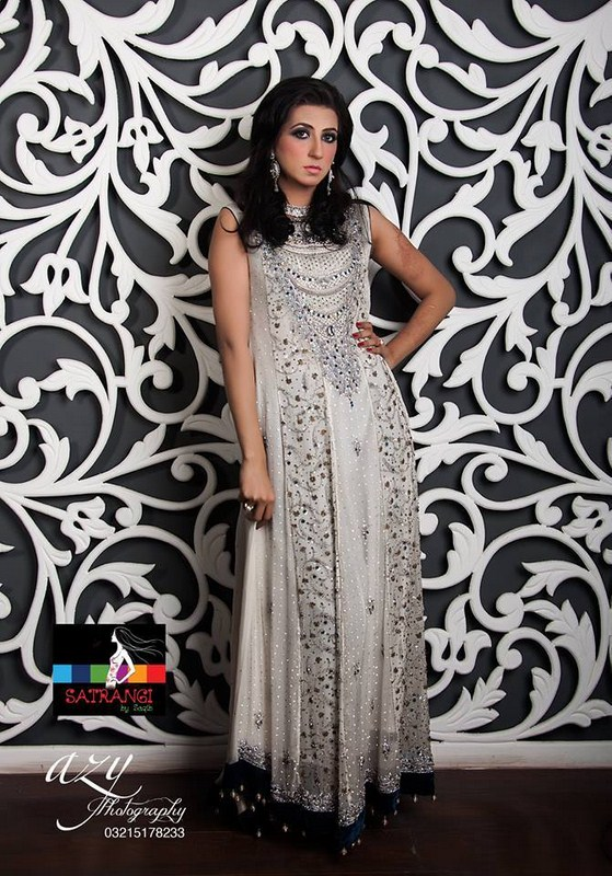 Satrangi by Saqib Party Dresses 2014 For Women 005