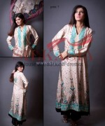 Silkasia Printed Silk Clothes 2014 For Girls 1