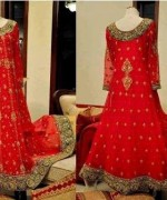 Trend Of Red Dresses 2014 For Pakistani Women 001