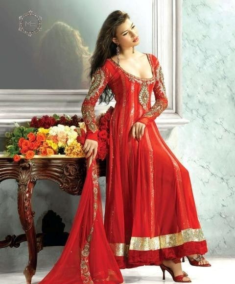 Trend Of Red Dresses 2014 For Pakistani Women 009