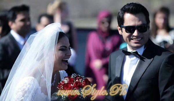 Veena Malik Valima Reception In White Wedding Style Pic 25