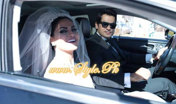 Veena Malik Valima Reception In White Wedding Style Pic 27