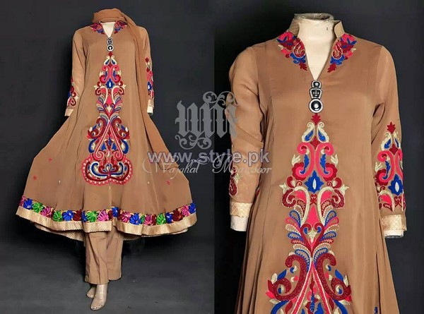 Wajahat Mansoor Party Dresses 2014 For Women 5