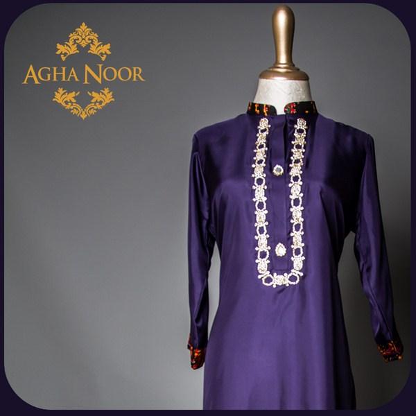 Agha Noor Spring Dresses 2014 For Women 0011