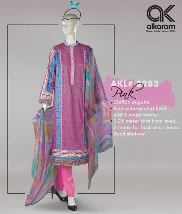 Alkaram Spring Dresses 2014 Volume 2
