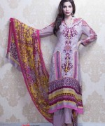 Anum Chiffon Lawn 2014 By Al-Zohaib Textile 002