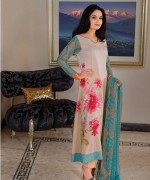 Armeena Rana Khan Designer Lawn 2014 by Gohar Textiles006