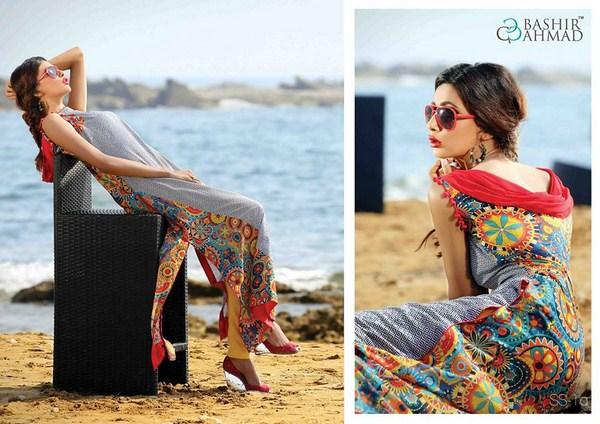 Bashir Ahmad Textiles Lawn Single Shirts 2014 For Women  002