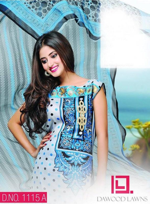 Dawood Textiles Aalishan Chiffon Lawn Dresses 2014 Volume 1 For Women 0013