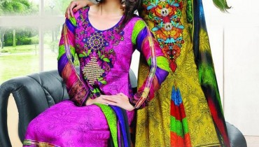 Dawood Textiles Aalishan Chiffon Lawn Dresses 2014 Volume 1 For Women 0015