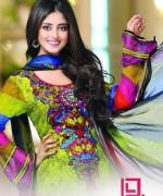 Dawood Textiles Aalishan Chiffon Lawn Dresses 2014 Volume 1 For Women 0016