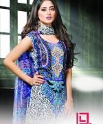 Dawood Textiles Aalishan Chiffon Lawn Dresses 2014 Volume 1 For Women 004