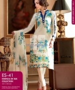 Gul Ahmed Essenza De Silk Dresses 2014 For Summer 1