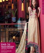 Gul Ahmed Premium Embroidered Lawn Dresses 2014 For Women 0012