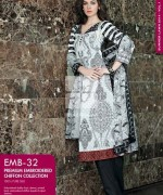 Gul Ahmed Premium Embroidered Lawn Dresses 2014 For Women 0013