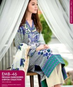 Gul Ahmed Premium Embroidered Lawn Dresses 2014 For Women 009