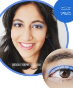 How to Apply Electric Blue Liner and Mascara 2