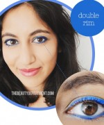 How to Apply Electric Blue Liner and Mascara 4
