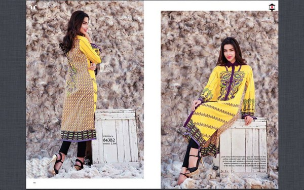 Ittehad Textiles Printed Lawn Shirts 2014 For Women 007