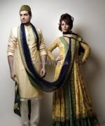 Nida Azwer Wedding Dresses 2014 For Bride and Groom 1