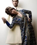 Nida Azwer Wedding Dresses 2014 For Bride and Groom 2