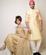 Nida Azwer Wedding Dresses 2014 For Bride and Groom 3