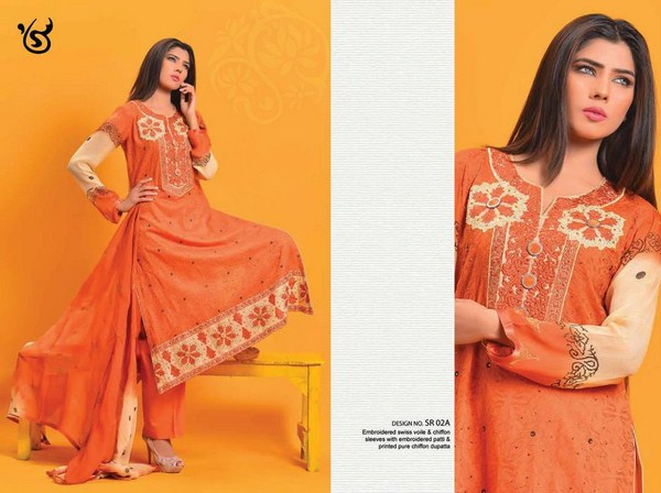Salam's Textile Summer Dresses 2014 Volume 2 For Women 004