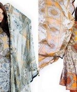 Sitara Textiles Chiffon Lawn Dresses 2014 For Women 006