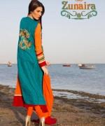 Zunaira Lounge Summer Dresses 2014 For Women 03