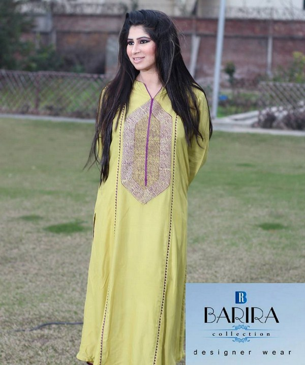 Barira Collection Summer Dresses 2014 For Women 004
