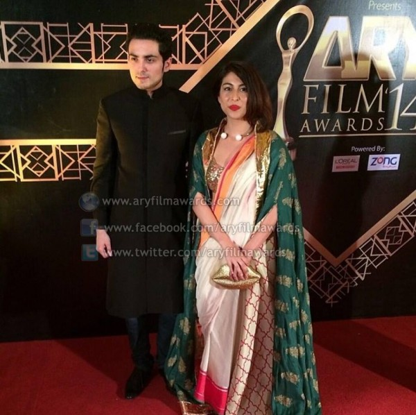 Bilal Lashari and Meesha Shafi at ARY Film Awards 2014