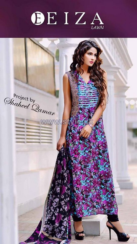 Eiza Summer Lawn Dresses 2014 by UA Textile For Girls 8