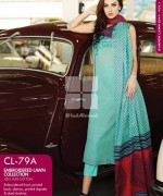 Gul Ahmed Embroidered Lawn Dresses 2014 For Women 0010