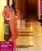 Gul Ahmed Embroidered Lawn Dresses 2014 For Women 007