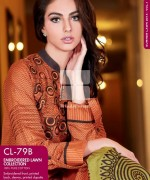 Gul Ahmed Embroidered Lawn Dresses 2014 For Women 009